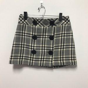 Express Houndstooth Mini Skirt